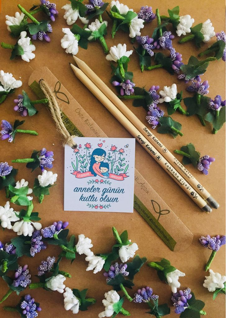 Anneler Günü Hediyesi Çiçek Açan Tohumlu Kalem 05417985133 #tohumlukalem #sevgikalemi